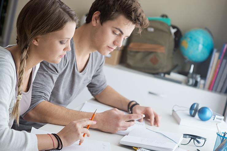 Werksstudenten arbeiten zusammen als Software Developer